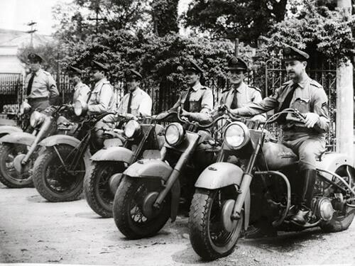 Foto histórica da Polícia Militar de São Paulo.