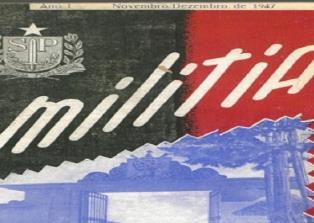 1ª edição da revista Militia, no ano de 1.947
